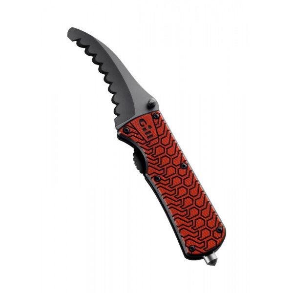 Gill Marine-DG-MT006-RED01-1SIZE Coltello pieghevole con manico antiscivolo-31